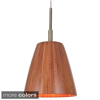 Sorg 1-light Adnap Bamboo Mini Pendant
