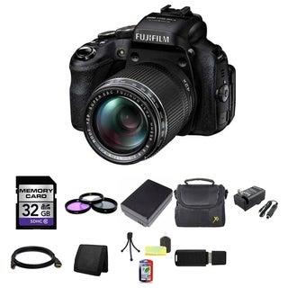 Fujifilm FinePix HS50EXR 16MP Black Digital Camera 32GB Bundle