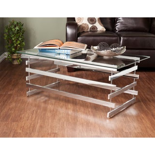 Upton Home Hayes Chrome Glass Cocktail/ Coffee Table
