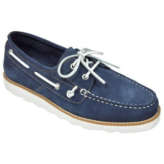 Rugged Shark Men's 'Wheelhouse' Navy Suede Boat Shoes