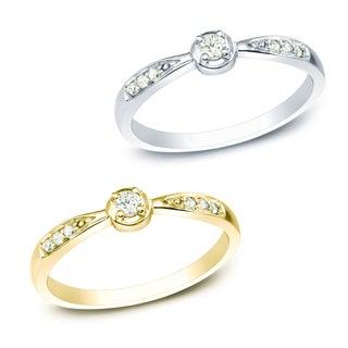 Auriya 10k White or Yellow Gold 1/10ct TDW Diamond Promise Ring (J-K, I1-I2)