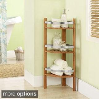 Altra Bamboo Bathroom Shelves Corner Tower