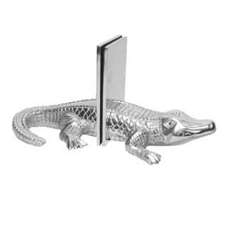 Cast Aluminum Alligator Bookends