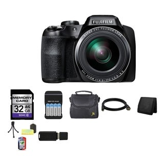 Fujifilm FinePix S8200 16.2MP Black Digital Camera 32GB Bundle