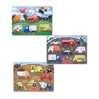 Melissa & Doug Peg Puzzle Boy Bundle (Set of 3)