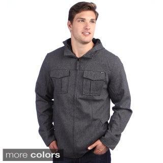 Elixir Men's 'Highlander' Wool Blend Hooded Jacket