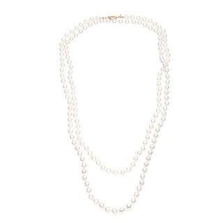 Roman Cream Faux Pearl 60-inch Necklace