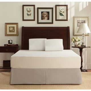 WHITE by Sarah Peyton 10-inch Traditional Firm Support Cal King-size Memory Foam Mattress and Pillow Set