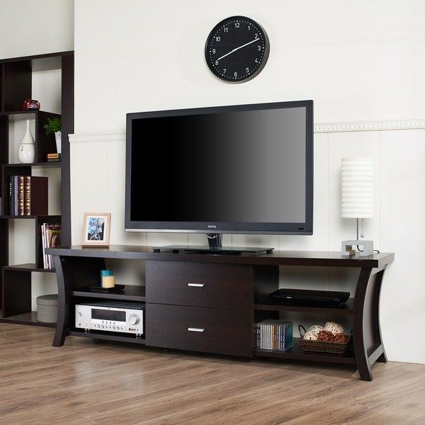 furniture of america danbury modern 2 drawer tv console