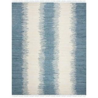 Safavieh Hand-woven Montauk Blue Cotton Rug (9' x 12')