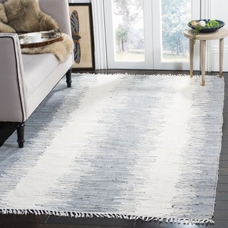 Safavieh Hand-woven Montauk Grey Cotton Rug (9' x 12')
