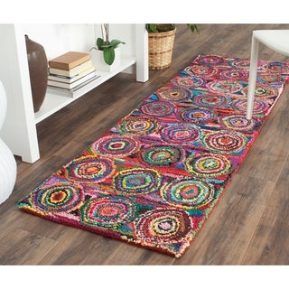 Safavieh Handmade Nantucket Pink Cotton Rug (2'3 x 8')