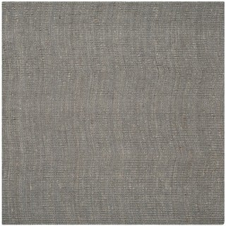 Safavieh Hand-woven Natural Fiber Light Grey Jute Rug (6' Square)