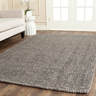 Safavieh Hand-woven Natural Fiber Light Grey Jute Rug (9' x 12')