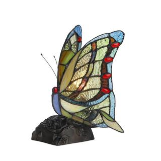 Tiffany Style Butterfly Design Nightlight/accent Lamp