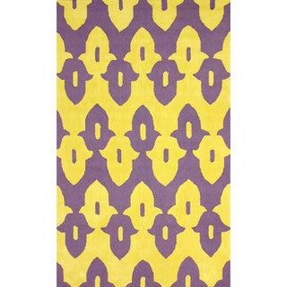nuLoom Hand-Hooked Purple Wool Rug (5' x 8')