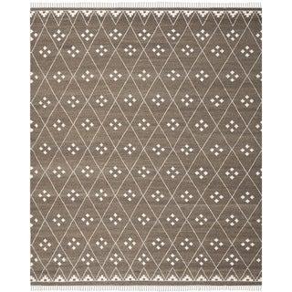 Safavieh Hand-woven Natural Kilim Brown/ Ivory Wool Rug (9' x 12')