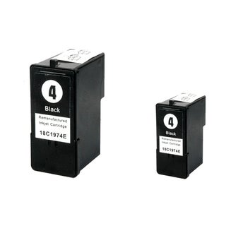 INSTEN Lexmark 4 Black Ink Cartridge (Remanufactured) (Pack of 2)