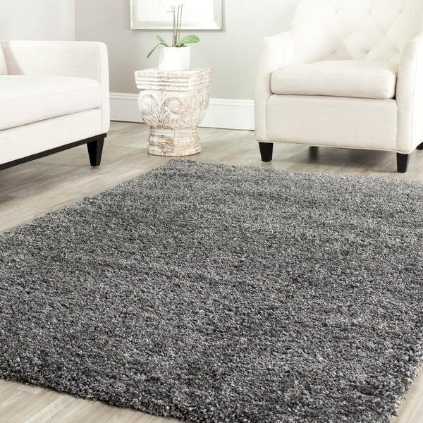 Safavieh Shag Dark Grey Rug (4' Square)