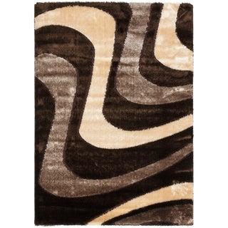 Safavieh Shag Brown/ Beige Rug (8'6 x 12')