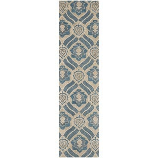 Safavieh Handmade Wyndham Blue/ Grey Wool Rug (2'3 x 11')