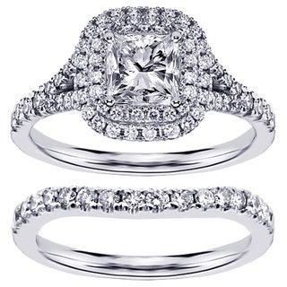 Platinum or 18k/ 14k Gold 1 4/5ct TDW Diamond Bridal Ring Set (F-G, SI1-SI2)