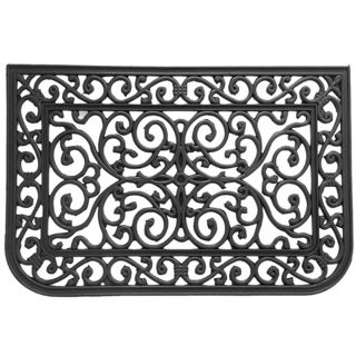 Rubber-Cal Liverpool Black Rubber/ Cast Iron Doormat (1'6 x 2'6)