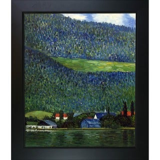 Gustav Klimt 'Unterach on Lake Atter,1915' Hand Painted Framed Canvas Art