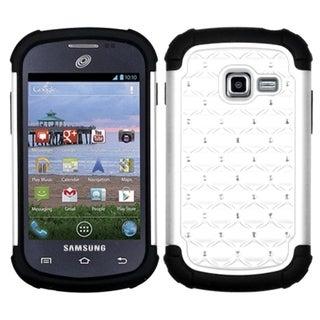 INSTEN White/ Black TotalDefense Phone Case Cover for Samsung S738C Galaxy Centura