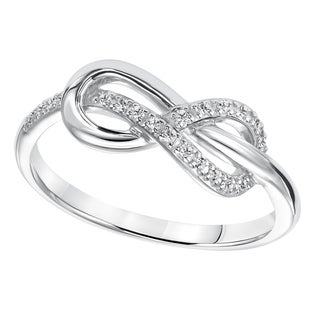 Cambridge Sterling Silver 1/10ct TDW Diamond Infinity Ring