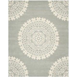 Safavieh Handmade Bella Grey/ Ivory Wool Rug (8' x 10')