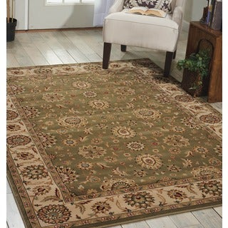 Nourison Persian Crown Green Area Rug (7'10 x 10'6)