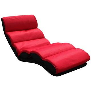 K&B Red Folding Lounge Chair
