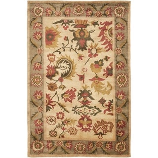 Safavieh Hand-knotted Ancient Weave Ivory/ Sage Wool Rug (9' x 12')