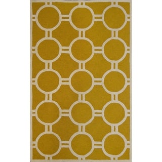 Safavieh Handmade Moroccan Cambridge Collection Gold/ Ivory Wool Rug (8' x 10')