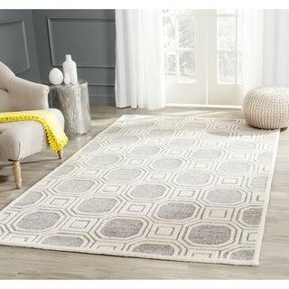 Safavieh Handmade Precious Silver Wool/ Polyester Rug (8'9 x 12')