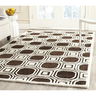 Safavieh Handmade Precious Charcoal Polyester/ Wool Rug (8' x 10')