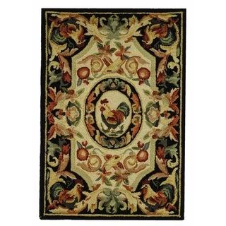 Safavieh Hand-hooked Chelsea Ivory/ Black Wool Rug (1'8 x 2'6)