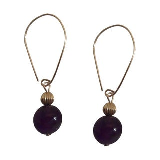 14k Gold-filled Marquis Amethyst Dangle Earrings