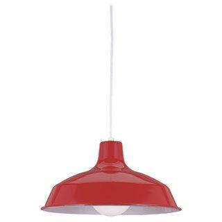 Red 1-light Stem Pendant