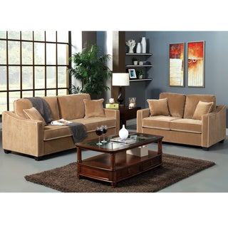 Furniture of America Maxony Modern 2-piece Sofa and Loveseat Set (2-piece)