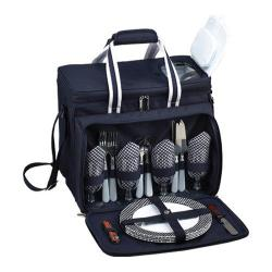 Picnic at Ascot Picnic Cooler for Four Navy/White