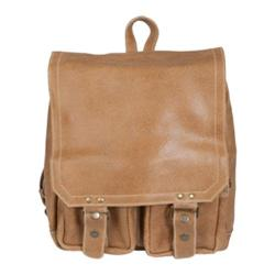 David King Leather 6316 Distressed Laptop Backpack Tan