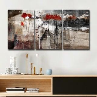 Alexis Bueno 'Abstract' Canvas Wall Art (3-piece Set)
