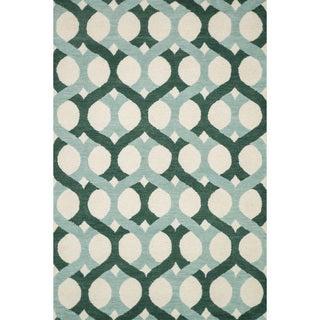 Hand-tufted Tatum Blue/ Green Wool Rug (7'9 x 9'9)