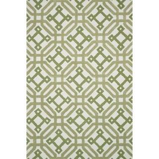 Hand-tufted Tatum Ivory/ Green Wool Rug (7'9 x 9'9)