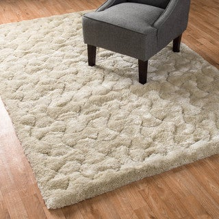 Plush Arabesque Trellis Shag Rug (7'7 x 10'5)