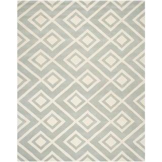 Safavieh Handmade Moroccan Chatham Contemporary Grey/ Ivory Wool Rug (9' x 12')