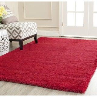 Safavieh Milan Shag Red Rug (8'6 x 12')