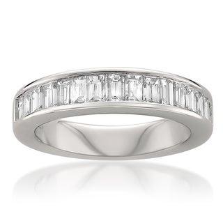 14k White Gold 1ct TDW Baguette Diamond Wedding Band (G-H, VS1-VS2)